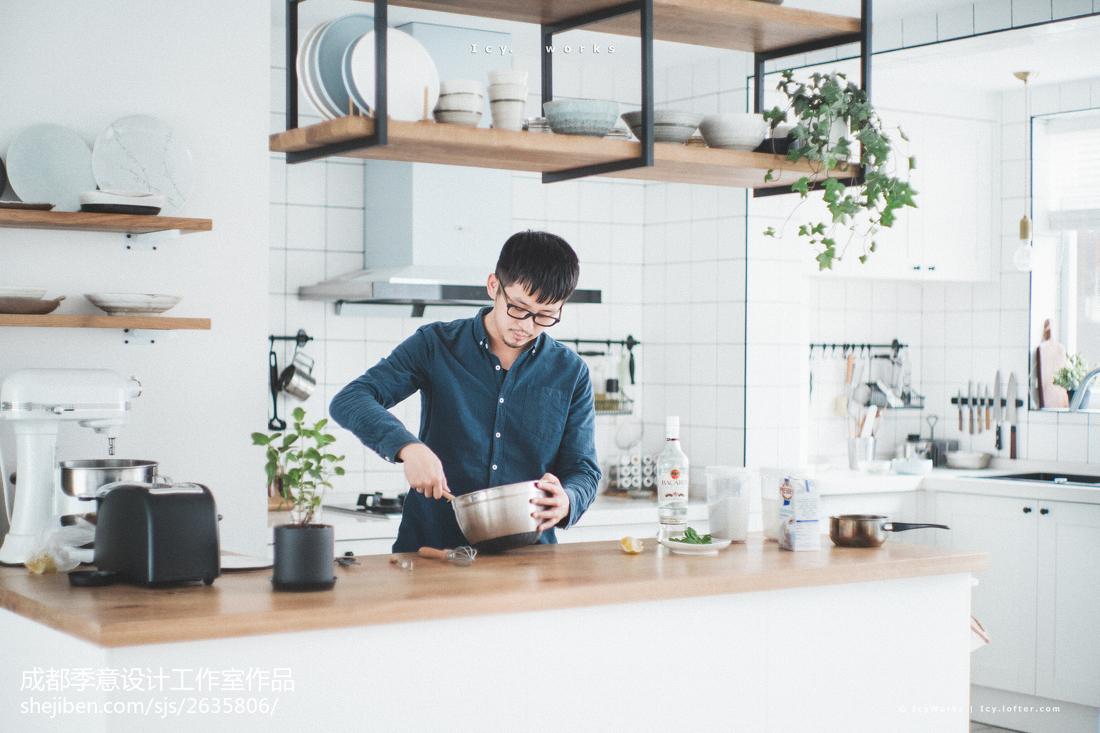 温馨北欧风厨房装修效果图