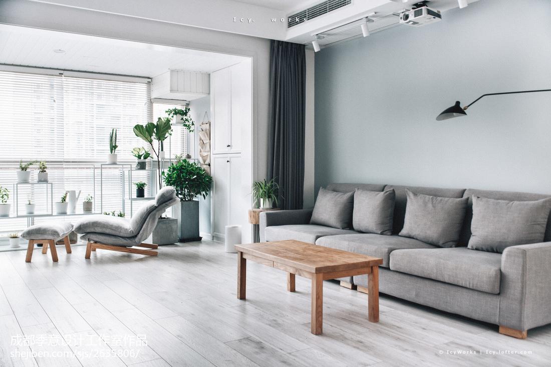 宽敞北欧风格客厅设计图