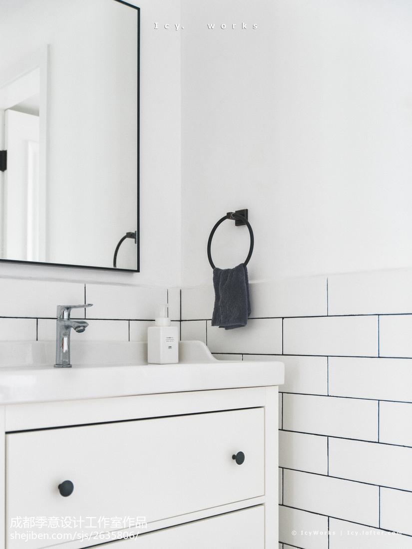 小型北欧风格卫浴洗手盆设计图