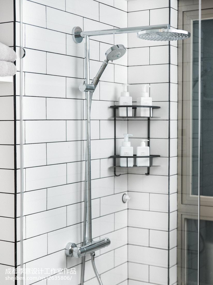 简单北欧风格卫浴储物架设计图