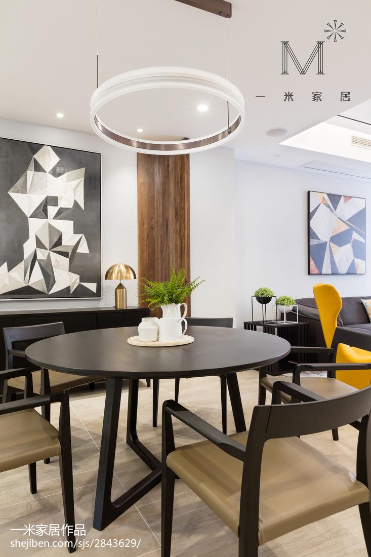 2018精选面积138平别墅餐厅现代装修实景图片