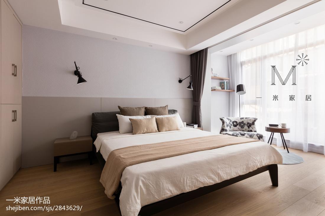 热门120平方现代别墅卧室装修实景图