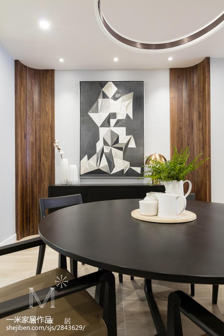 热门131平方现代别墅餐厅装修设计效果图片大全