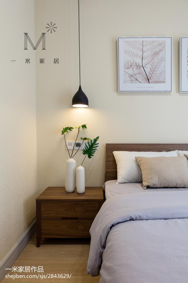 热门面积120平别墅卧室现代装饰图