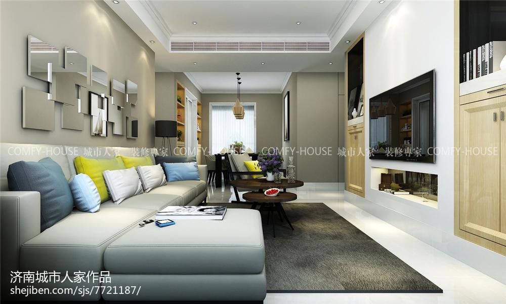 美式休闲三居室设计装修效果图