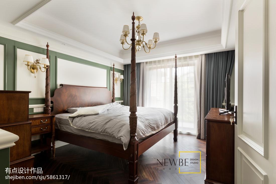 精美面积128平别墅卧室美式实景图片