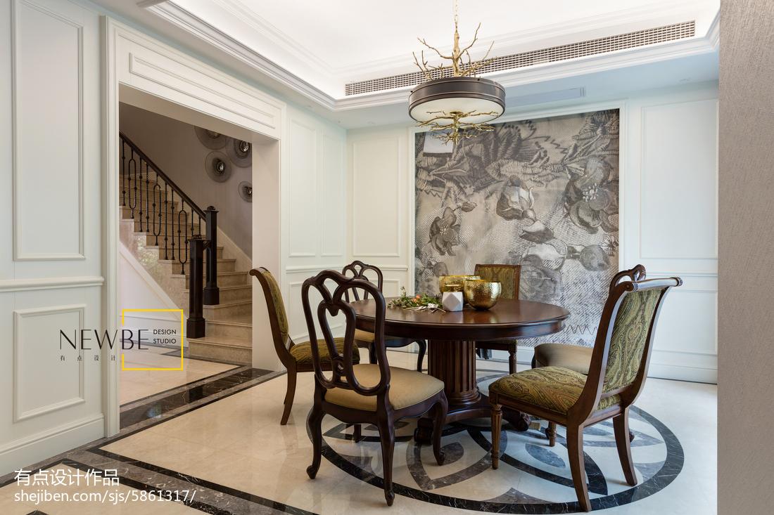 精选131平米美式别墅餐厅装修效果图片欣赏
