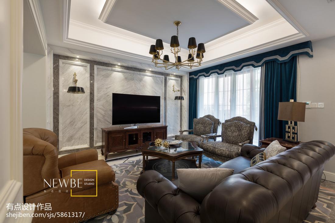 精美面积137平别墅客厅美式实景图片