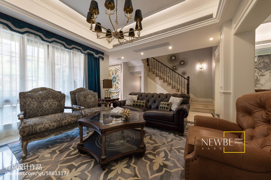 精美133平米美式别墅客厅效果图片欣赏