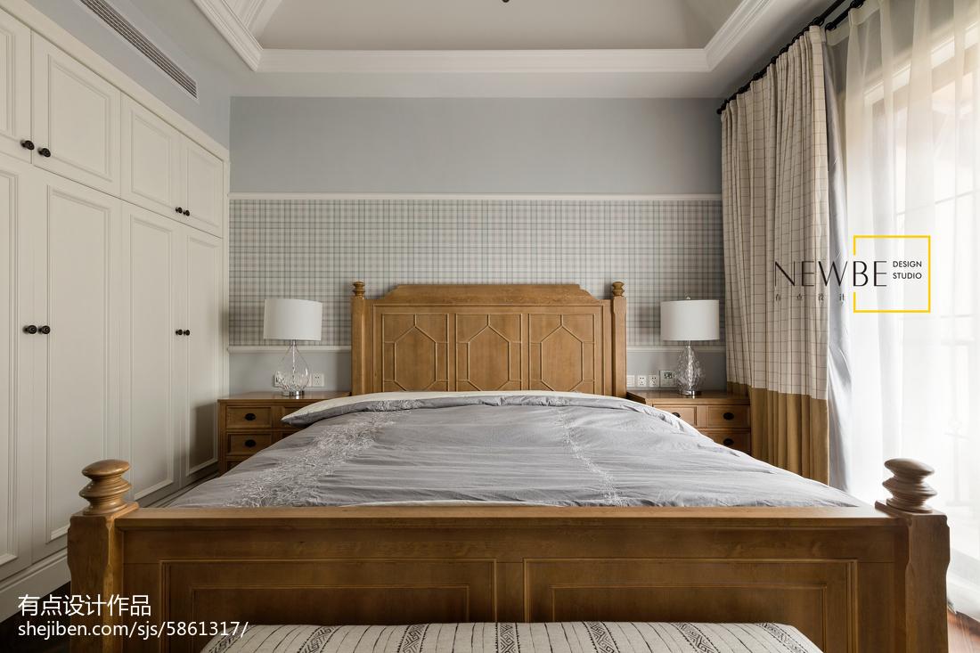 精美面积123平别墅卧室美式装修欣赏图片大全
