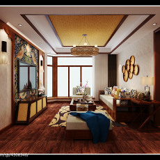 欧式新古典风格精装修三室两厅效果图大全