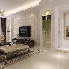 精美面积94平欧式三居客厅装修效果图片大全