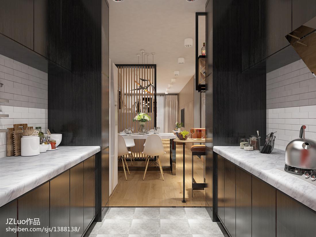 美式清新两居室设计装修室内效果图