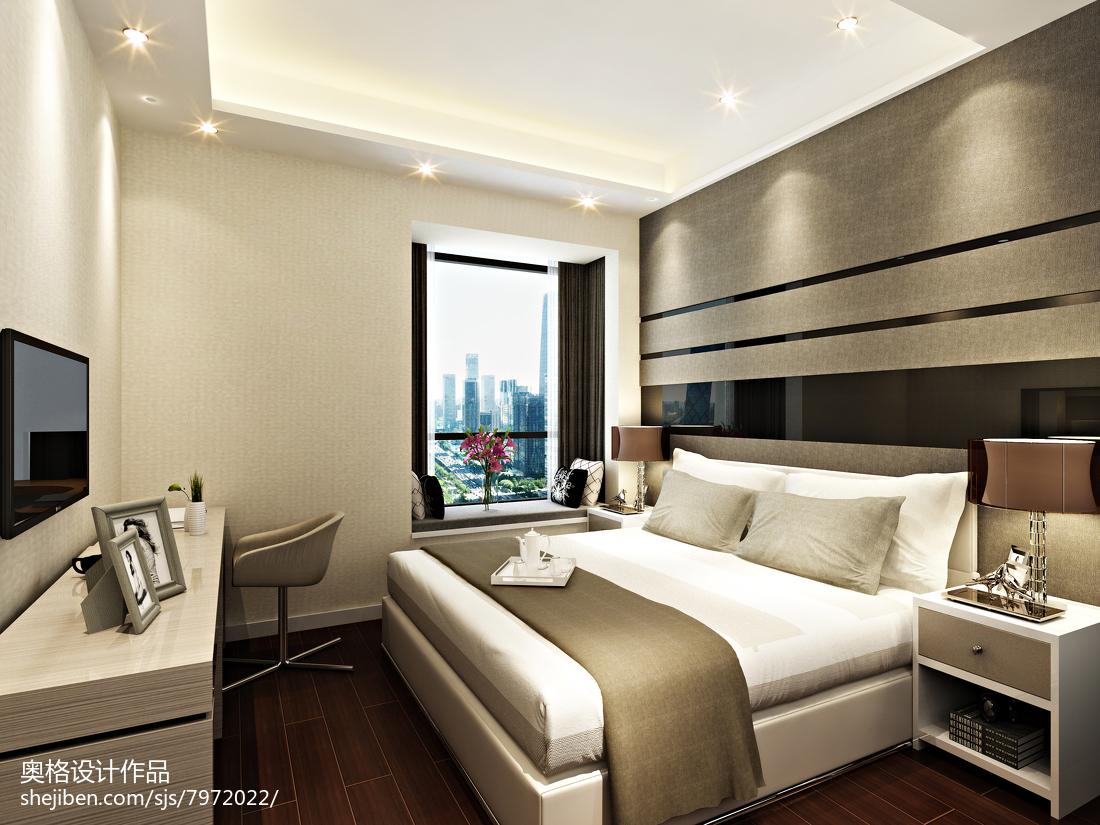 简约现代装修风格卧室效果图