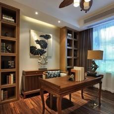 面积100平东南亚三居书房实景图片