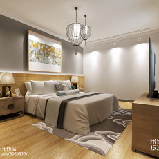 2018精选77平米二居卧室中式装饰图片大全