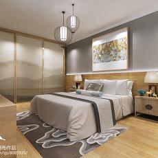 2018精选面积72平中式二居卧室装修设计效果图片大全