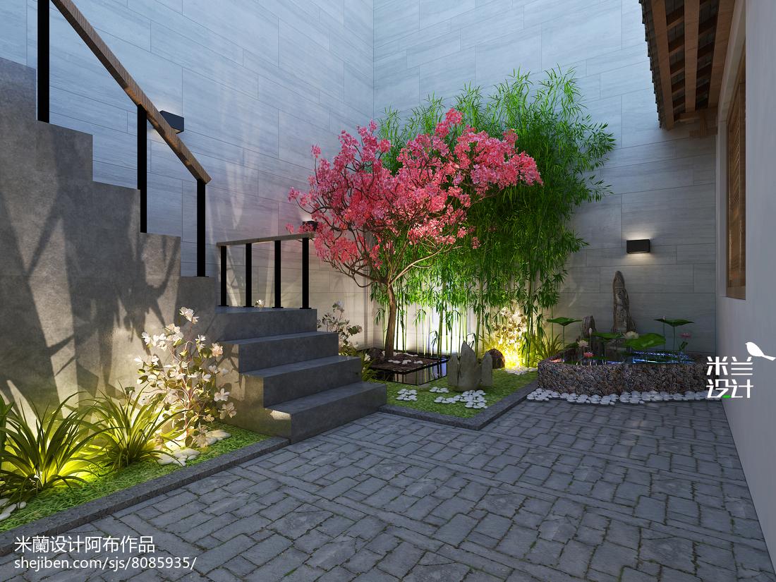 精选中式二居花园实景图片欣赏