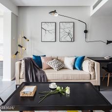 热门面积90平现代二居客厅装修设计效果图
