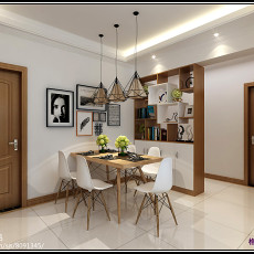 热门面积126平美式四居装修效果图片欣赏