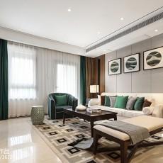 新中式实木家居客厅装修效果图