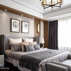 新中式实木卧室装修效果图