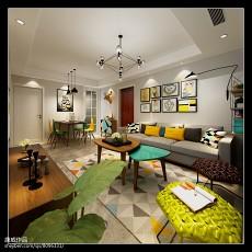现代风格两房装修门厅穿衣镜图片
