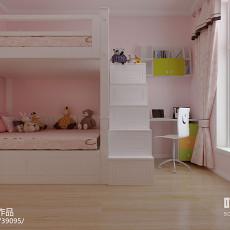 简美式两室一厅装修客厅吊灯效果图