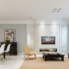 现代美式三室一厅装修效果图