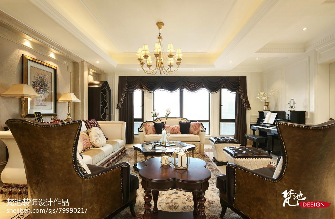 清新美观现代风格卧室窗帘设计效果图