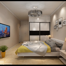 精选面积94平现代三居卧室装修欣赏图片大全