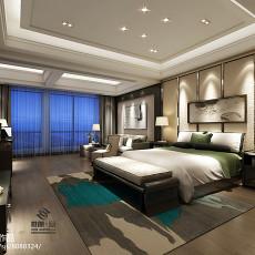 123平米简约别墅卧室装饰图片