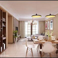2018精选面积85平简约二居客厅装修图