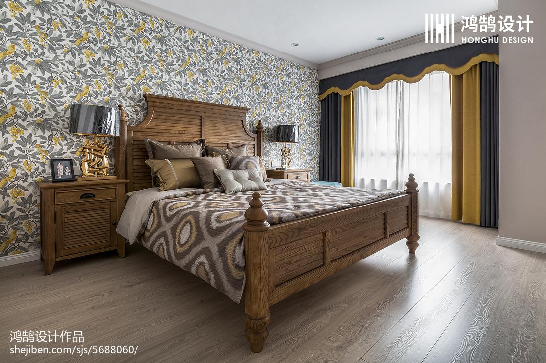 精致104平美式三居卧室设计美图