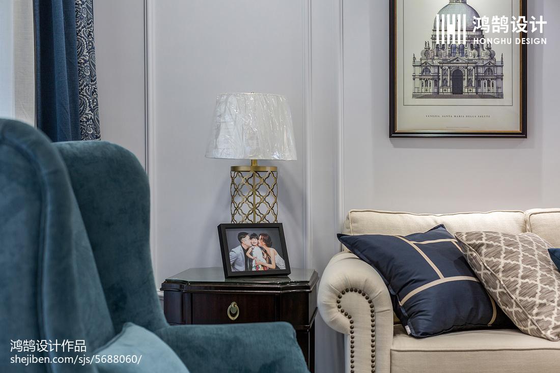 精美109平方三居客厅美式装修实景图片大全