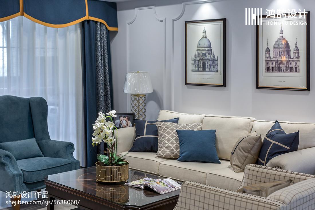 2018面积108平美式三居客厅装修图片欣赏