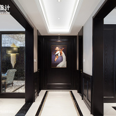 精选103平米三居玄关美式装饰图