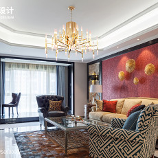 精美大小92平美式三居客厅实景图片欣赏