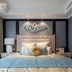 精美面积98平美式三居卧室装修设计效果图片