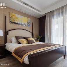精选面积105平美式三居卧室装修设计效果图片