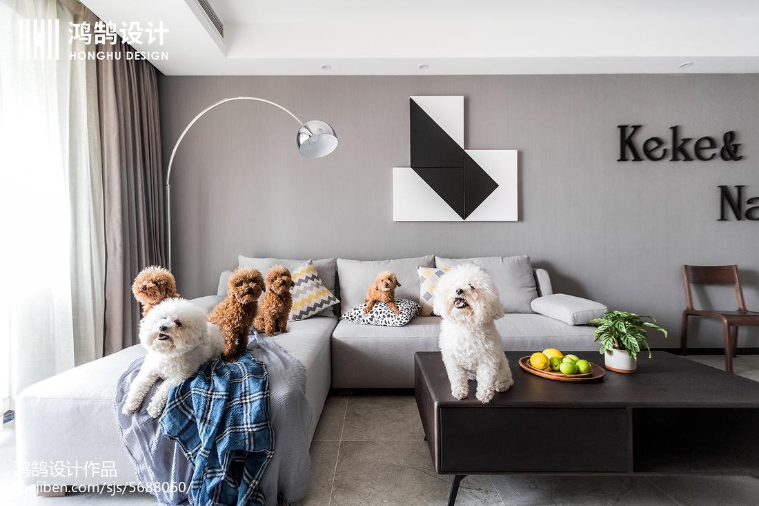 201879平米二居客厅现代装修设计效果图片大全