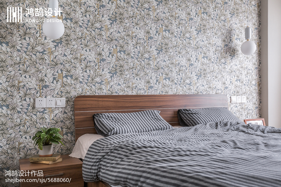 2018面积85平现代二居卧室实景图片大全