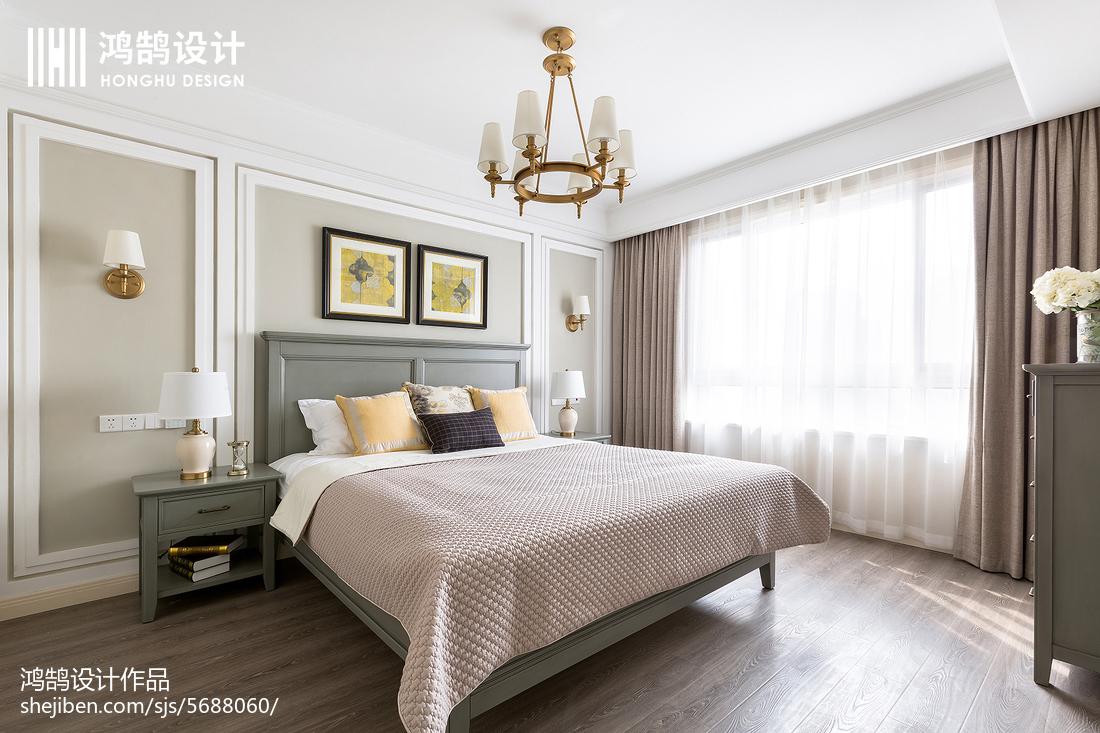 2018142平米四居卧室美式装修设计效果图片