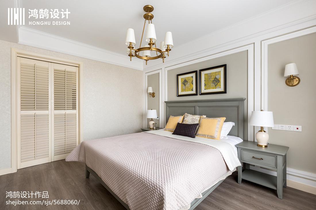 面积127平美式四居卧室装修图片