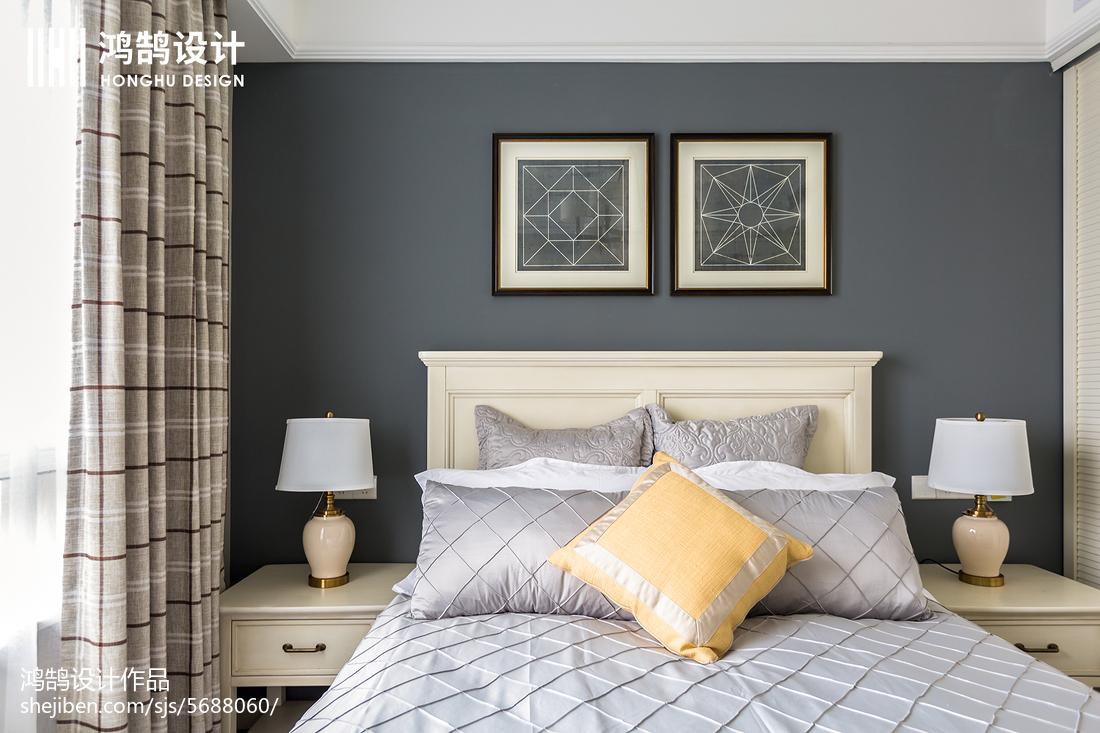 精美大小142平美式四居卧室装修效果图片