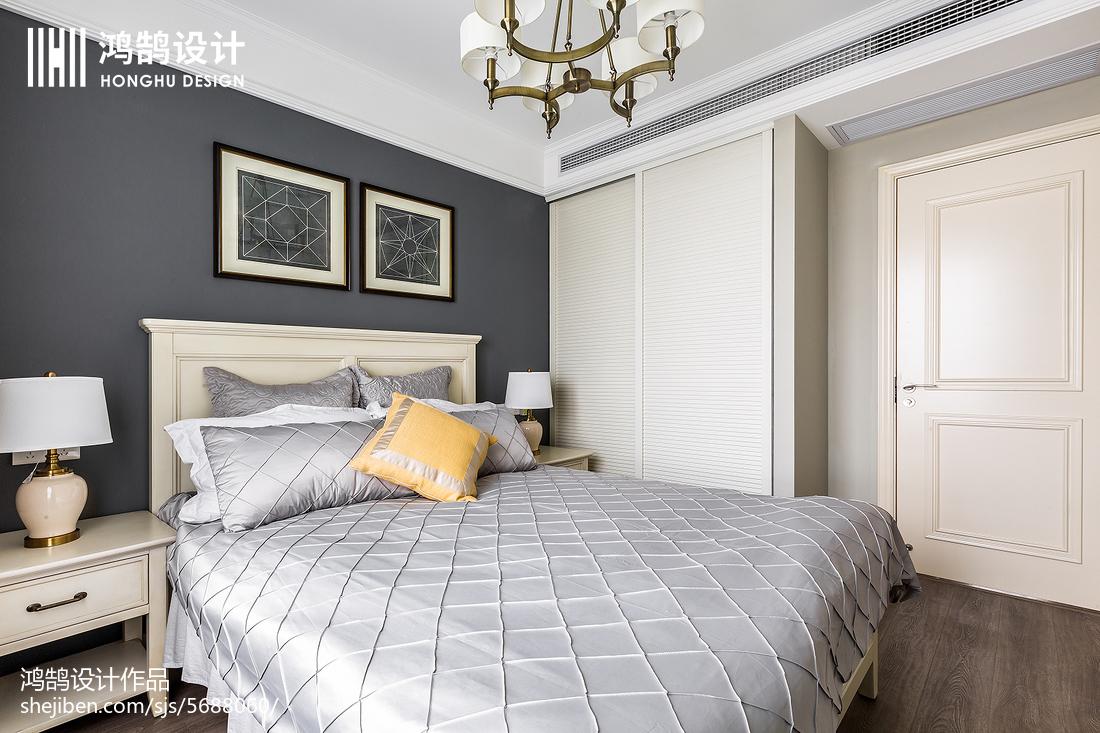 精美面积136平美式四居卧室装修欣赏图片