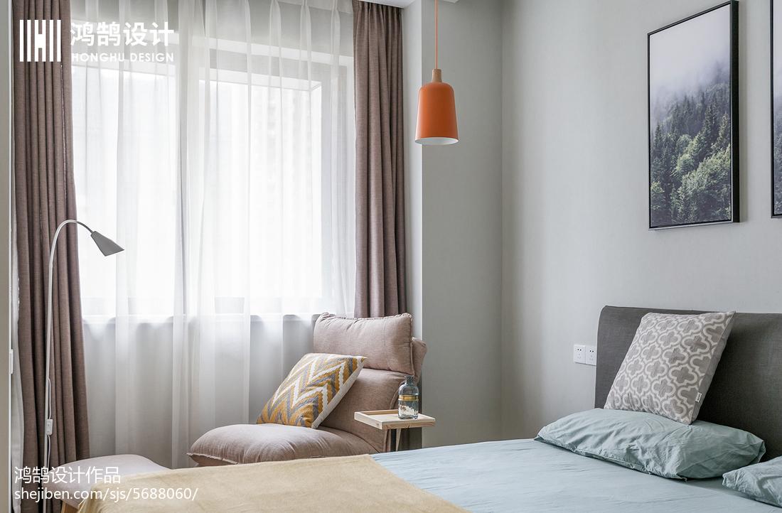 2018精选二居卧室北欧装修效果图片大全