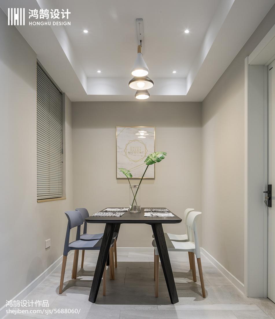 精美面积88平北欧二居餐厅装修效果图片欣赏