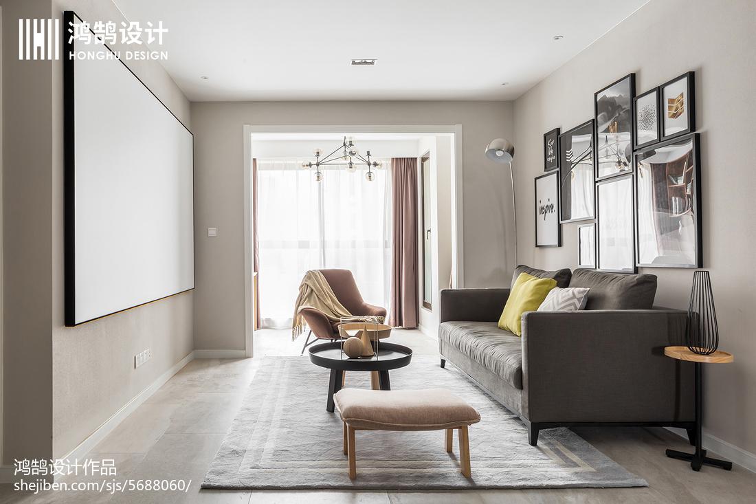 精选76平米二居客厅北欧装饰图片欣赏