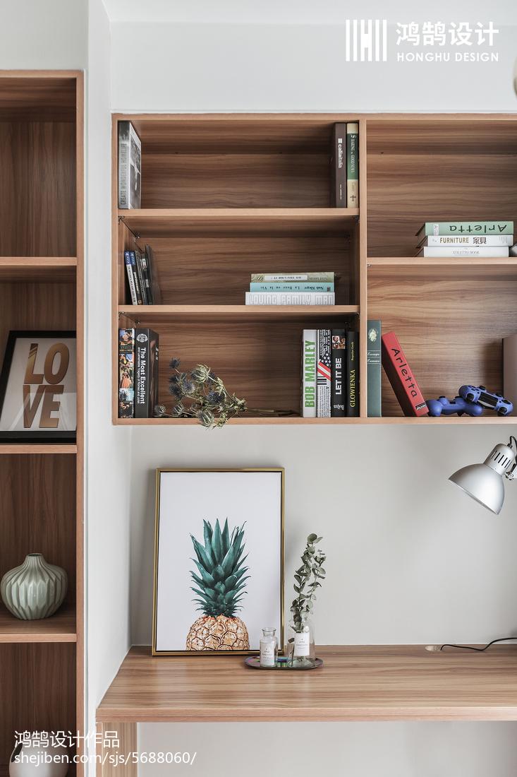 78平米二居书房北欧装修实景图